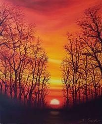 Rot, Sonne, Sonnenuntergang, Abendstimmung