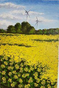Windmühle, Sommer, Malerei