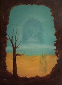 Baum, Einsiedler, Malerei,