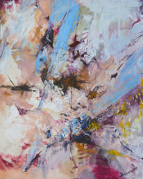 Ölmalerei, Gemälde, Pink, Abstrakt