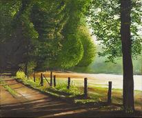 Ölmalerei, Natur, Grün, Wald