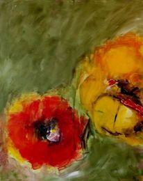 Blüte, Abstrakt, Gelb, Grün