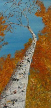 Wald, Baum, Herbst, Braun