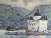 Felsen, Urlaub, Malerei, Burg