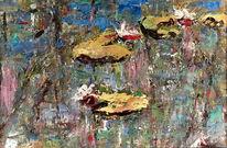 Wasser, Pflanzen, Bunt, Malerei