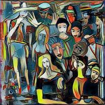 Theater, Menschen, Vorstellung, Malerei
