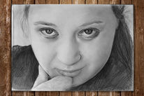 Menschen, Portraitzeichnung, Frau, Person