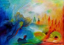Magie, Geist, Farbrausch, Landschaft