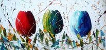 Abstrakt, 3d, Blum, Blumen
