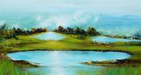 Malerei, Wasser, Modern, Landschaft