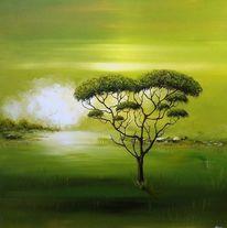 Grün, Natur, 3d, Afrika