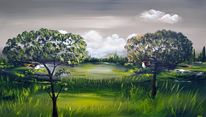 Natur, Modern, Landschaft, Malerei