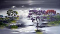 Acrylmalerei, Malerei, Natur, Fantasie