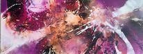 Schütttechnik, Abstrakt, Acrylmalerei, Malerei