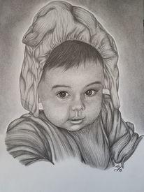 Portrait, Malerei, Zeichnung, Niedlich