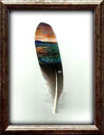 Malen, Sonnenaufgang, Acrylmalerei, Pastellmalerei