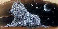 Feder, Mond, Acrylmalerei, Malen