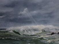 Meer, Wasser, Landschaft, Malerei