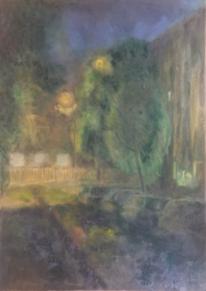 Abwegen, Landschaft, Malerei,