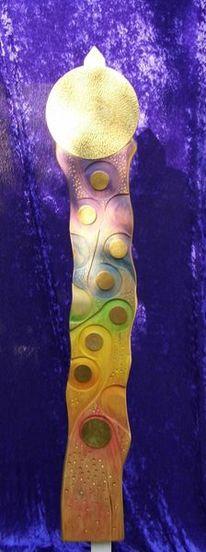 Lebensfreude, Pastellmalerei, Linde, Abstrakt