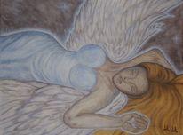 Engel, Malerei, Acrylmalerei