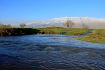 Wasser, Landschaft, Berge, Frühling