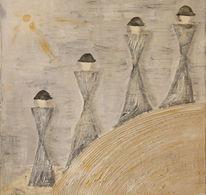 Acrylmalerei, Struktur, Malerei