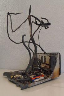 Eisen geschmiedet, Skulptur, Collage, Metall
