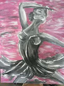 Grau, Ballerina, Tanz, Rosa