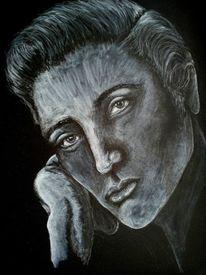 Z weiß, Elvis, Portrait, Schwar