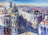 Spanien, Stadt, Madrid, Straße