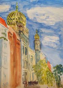 Kuppel, Luft, Synagoge, Berlin