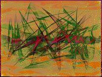 Digitale kunst, Grün, Abbild, Abstrakt