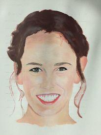 Portrait, Frau, Acrylmalerei, Malerei