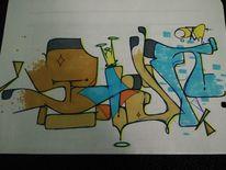 Stvn, Graffiti, Mischtechnik