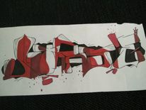 Ultrase, Graffiti, Mischtechnik, Comic