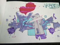Graffiti, Vlek, Mischtechnik