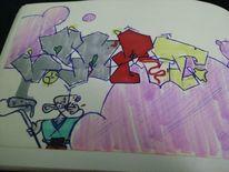 Graffiti, Zart, Mischtechnik
