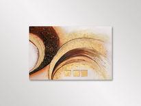 Braun, Acrylmalerei, Gold, Effekt