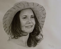 Portrait, Figural, Frau, Realismus