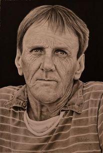 Realismus, Zeichnung, Menschen, Portrait