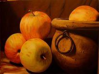 Apfel, Stillleben, Malerei