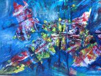 Malerei, Abstrakt, Landschaft, Schmetterling