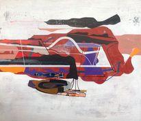 Abstrakte malerei, Geometrie, Abstrakt, Malerei
