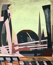 Acrylmalerei, Futurismus, Technologie, Abstrakt
