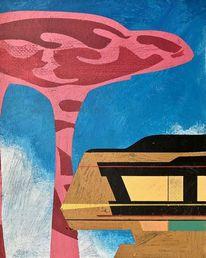 Avantgarde, Acrylmalerei, Metaphysisch, Zeitgenössisch