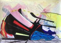 Acrylmalerei, Avantgarde, Technologie, Zeichnung
