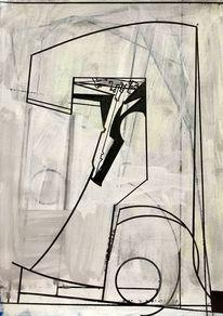 Metaphysisch, Avantgarde, Acrylmalerei, Zeitgenössisch