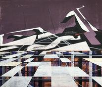 Avantgarde, Zeitgenössisch, Acrylmalerei, Futurismus