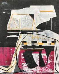Zeitgenössisch, Modern, Acrylmalerei, Technologie